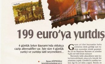 199 euro'ya yurtdışı tatili