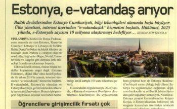 Estonya e-vatandaş arıyor