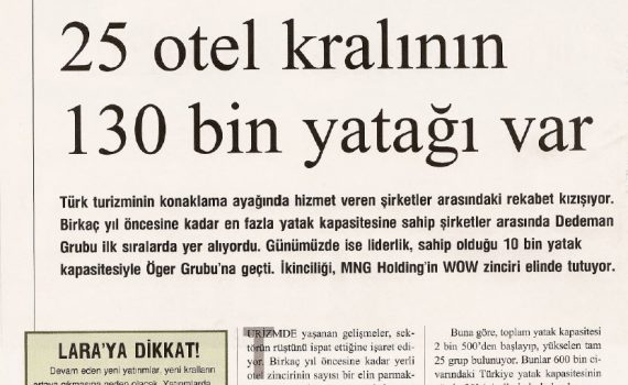 Türkiye'nin otel kralları