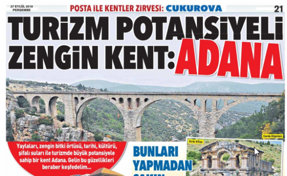 Turizm potansiyeli zengin kent: Adana
